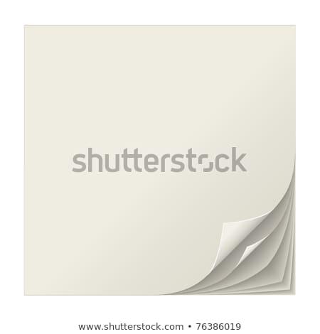 beyaz · sayfa · parça · kâğıt · köşe · defter - stok fotoğraf © tuulijumala