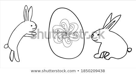 páscoa · cartão · dois · ovos · abstrato - foto stock © mcherevan