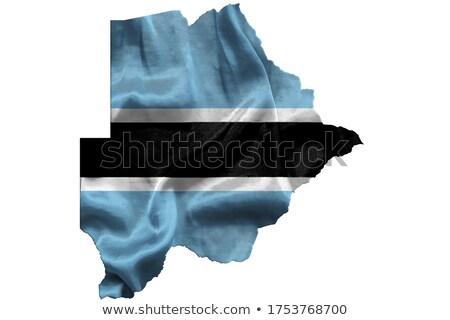 Vidék forma zászló Botswana izolált fehér Stock fotó © michaklootwijk