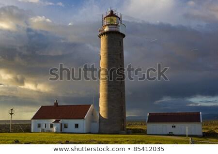 latarni · zachód · słońca · Michigan · na · północ · świetle · wygaśnięcia - zdjęcia stock © phbcz