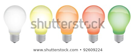 Different Color Lightbulbs Illustration Design Over White Photo stock © alexmillos
