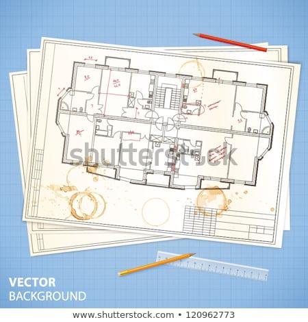 Mimari plan modern ev inşaat dizayn Stok fotoğraf © Vladimir