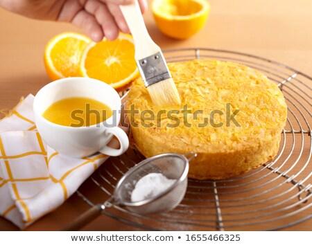 Small citron on the sieve Stock photo © varts