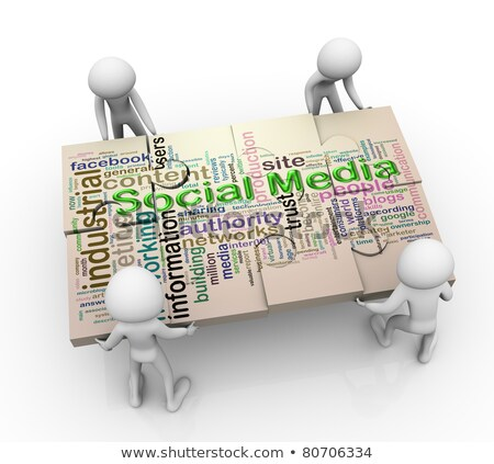 Médias sociaux processus groupe vecteur affaires Photo stock © burakowski