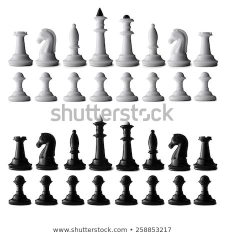 Szachownica górę widoku tle szachy Zdjęcia stock © vlad_star