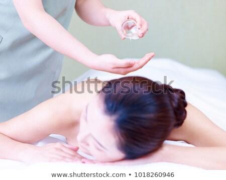 chino · mujer · bienestar · masaje · sexy · cuerpo - foto stock © kzenon