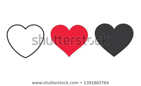 Kırmızı kalp ikon vektör beyaz tatlı Stok fotoğraf © burakowski