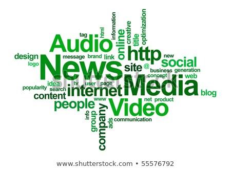 Hírek szófelhő szavak üzlet televízió sportok Stock fotó © chrisdorney