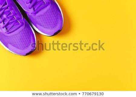 Kleurrijk schoen business winkelen kunst schoenen Stockfoto © shawlinmohd
