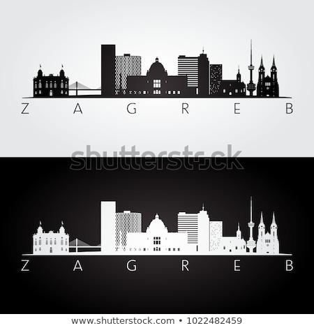 Zagreb horizonte Croacia brillante Foto stock © joyr