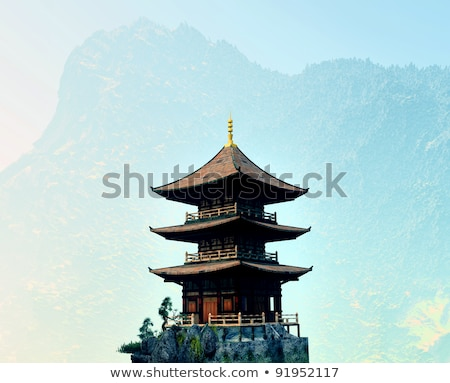 Zen buddhist temple in the mountains Stock photo © andromeda