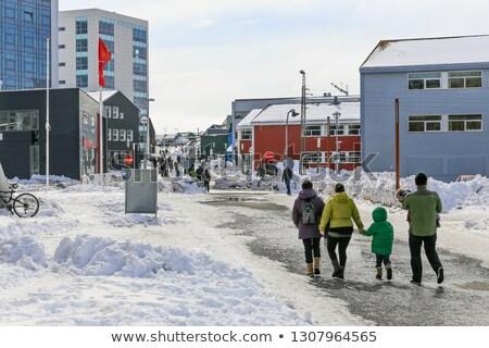 улице подписать снега Motor цикл природы Сток-фото © Arrxxx