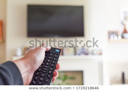 ничего телевидение подростку канал пультом изолированный Сток-фото © ArenaCreative