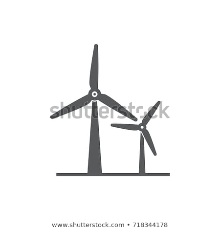silhouette of wind turbines Stock photo © ssuaphoto
