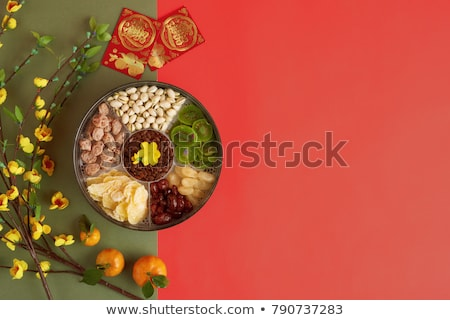 New Year food mix Stock photo © vavlt