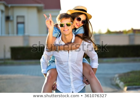Glamour couple in sunglasses Stock photo © MikLav