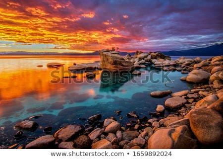 озеро Невада антенна пейзаж гор США Сток-фото © iofoto