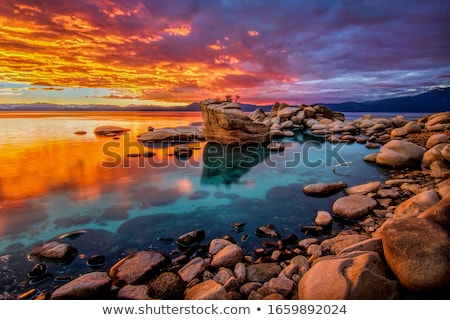 Göl Nevada manzara dağlar ABD Stok fotoğraf © iofoto