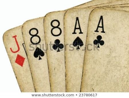 vecchio · sporca · poker · carte - foto d'archivio © latent