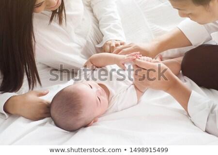 Anne baba küçük çocuklar genç aile Stok fotoğraf © Dave_pot