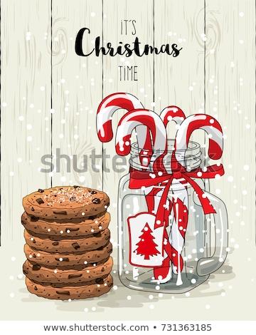 Noël temps cookies décorations arbre pomme Photo stock © tannjuska