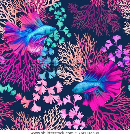 cannabis · végtelenített · textúra · absztrakt · minta · vektor - stock fotó © glorcza