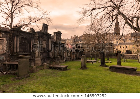 Headstone In Edinburgh Cemetery Stock photo © searagen