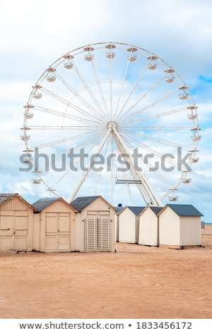 Plage cabine illustration mer sable tropicales Photo stock © lenm