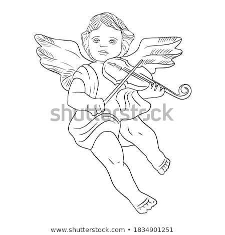 white and golden christmas angel figurine with book Stock photo © Rob_Stark