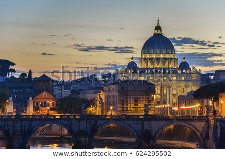 Gyönyörű panoráma éjszaka Róma Olaszország égbolt Stock fotó © tannjuska