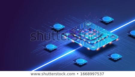 3D microchip núcleo imagen comunicación futuro Foto stock © idesign