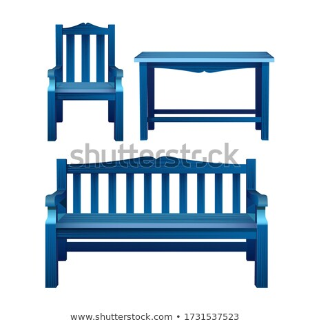 gardening set icons over blue stock photo © anna_leni