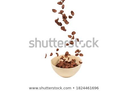 tál · csokoládé · gabonapehely · fotó · fehér · étel - stock fotó © Marfot