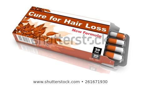 Cure for Hair Loss - Blister Pack Tablets. Stock photo © tashatuvango