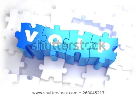 Voip blanche mot bleu 3d illustration affaires Photo stock © tashatuvango