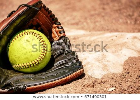 Beysbole benzer top oyunu top beysbol ikon vektör görüntü Stok fotoğraf © Dxinerz