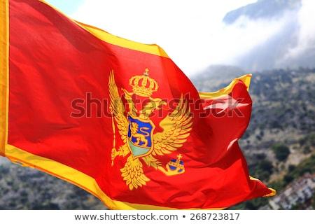 People with flag of montenegro Stock photo © MikhailMishchenko