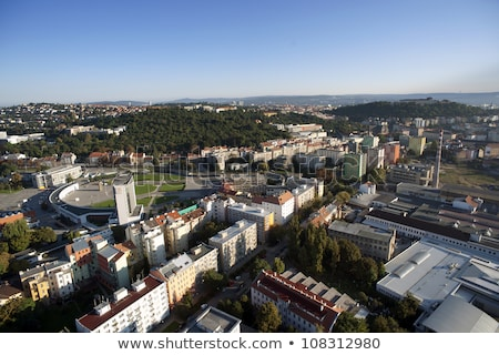 highly detailed aerial city view spilberk castle cathedral of stock photo © slunicko