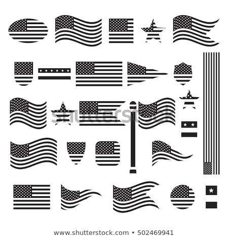 EUA bandeira postar blue sky azul liberdade Foto stock © stevanovicigor