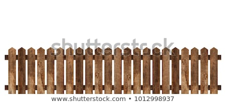 Old wooden fence in the village Stock photo © nessokv