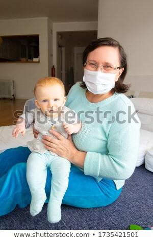 ベビーシッター 赤ちゃん 実例 家族 少女 子 ストックフォト © adrenalina