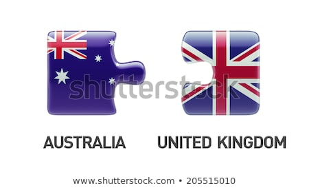 Australia and United Kingdom Flags in puzzle Stock photo © Istanbul2009