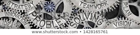 technological innovation on metal gears stock photo © tashatuvango