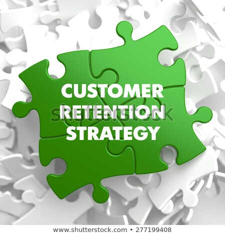 Customer Retention Strategy on Green Puzzle. Stock photo © tashatuvango