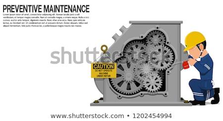 Gép karbantartás fém sebességváltó mechanizmus építkezés Stock fotó © tashatuvango