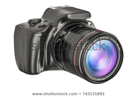 Modern refleks kamera yakınlaştırma beyaz Stok fotoğraf © vtls