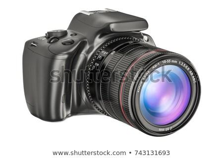 Modern reflex kamera zoom fehér Stock fotó © vtls