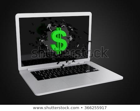dolar · simge · dizüstü · bilgisayar · amerikan · para · para - stok fotoğraf © teerawit