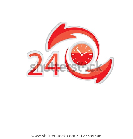 24 Hours Open golden Vector Icon Design Stock photo © rizwanali3d
