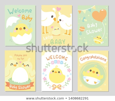 Egg shell and yellow balloons  Stock photo © Viva